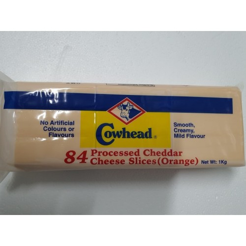 Orange Cheddar sliced cheese 84s